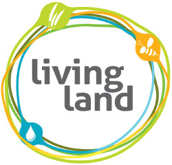 "Logotipo de la campaña europea ""Living Land"""