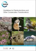 "Portada del manual ""Guidelines for reintroductions and other conservation translocations"", recientemente publicado por la UICN."